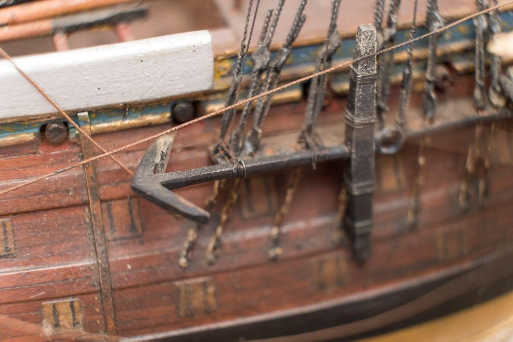 A good early 20th century waterline model of HMS Victory in her first commission 1780, - Image 9 of 18