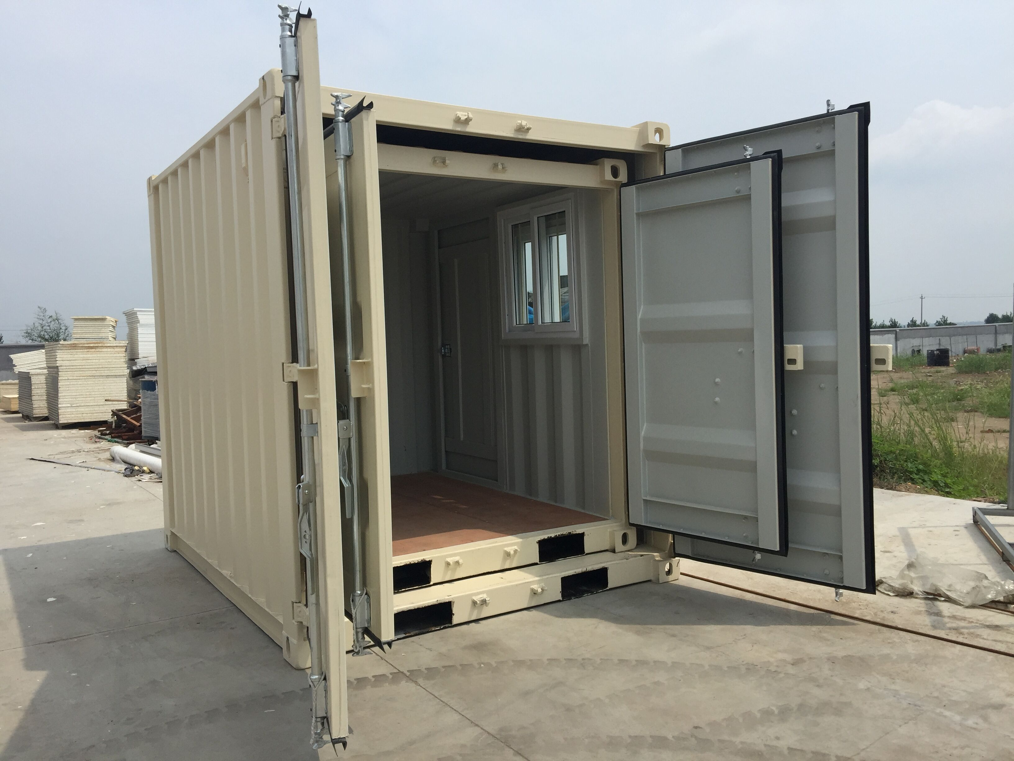 9' Small Container With Door & Window (9' x 7'3'' x 8'2''H)