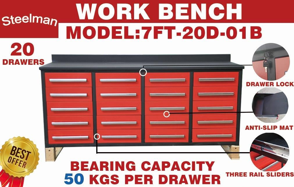 Lot 102 - STEELMAN Work Bench /7FT-20D