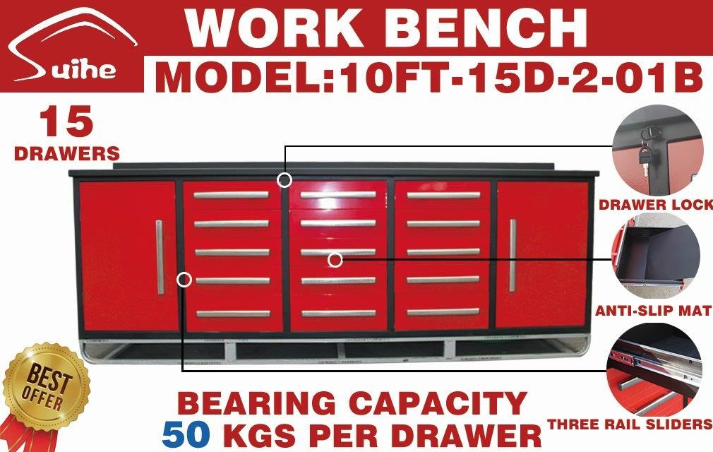 Lot 103 - STEELMAN Work Bench/ 10FT-15D-2