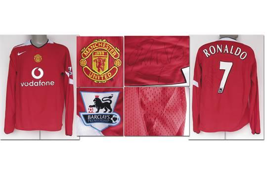 pretty nice ec22f 43fa7 match worn football shirt Man United 2005/06, CR7 - Original ...