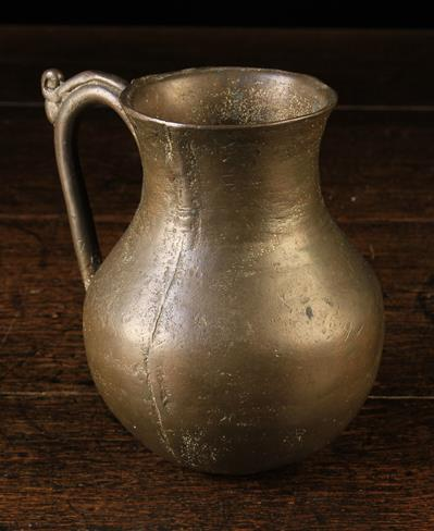 Lot 36A - A Mediaeval Bronze Jug, Circa 15th Century.