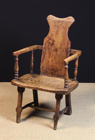 Lot 26 - A Late 18th/Early 19th Century Primitive, Country Armchair.