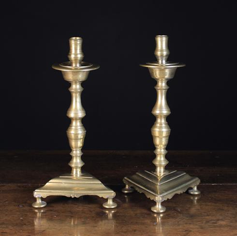 Lot 45 - A Pair of Bronze Candlesticks Circa 1700.