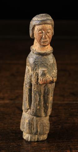 Lot 23 - A Early Wooden Doll, possibly 17th Century,