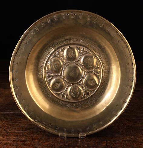 Lot 39 - A Nuremberg Brass Alms Dish.