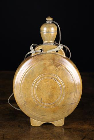 Lot 19 - A Fine Treen Pilgrim's Flask, probably sycamore.