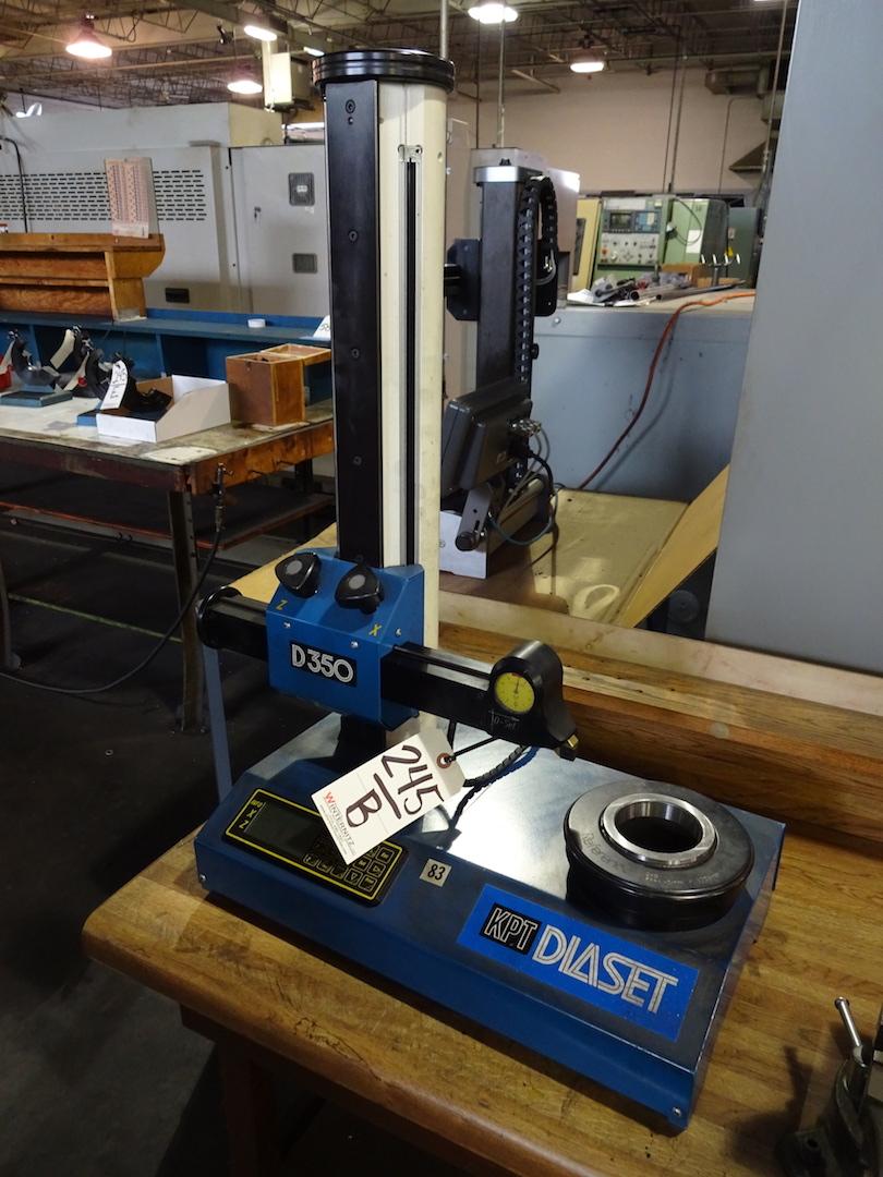 Lot 245B - KPT Diaset Model D350 Tool Measuring System (computer inoperable)
