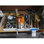 LOT: Assorted Kant-Twist Clamps, C-Clamps, Hack Saws, etc.