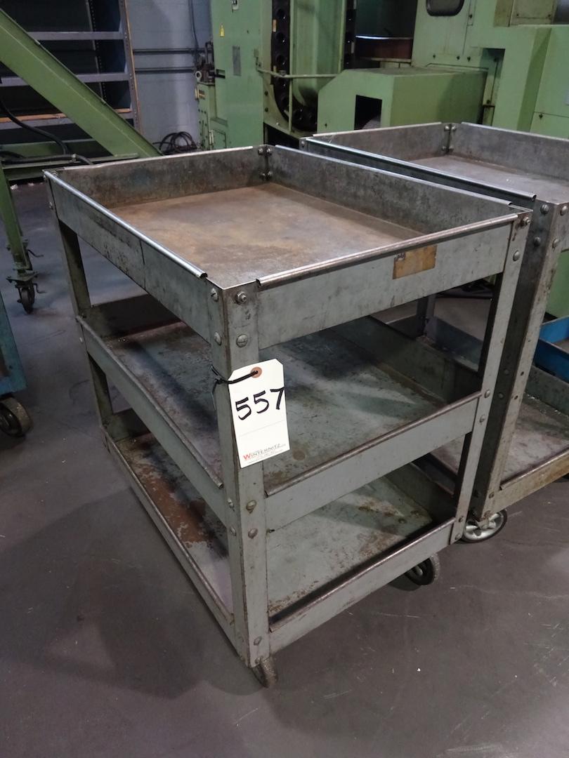 Lot 557 - Steel Shop Cart