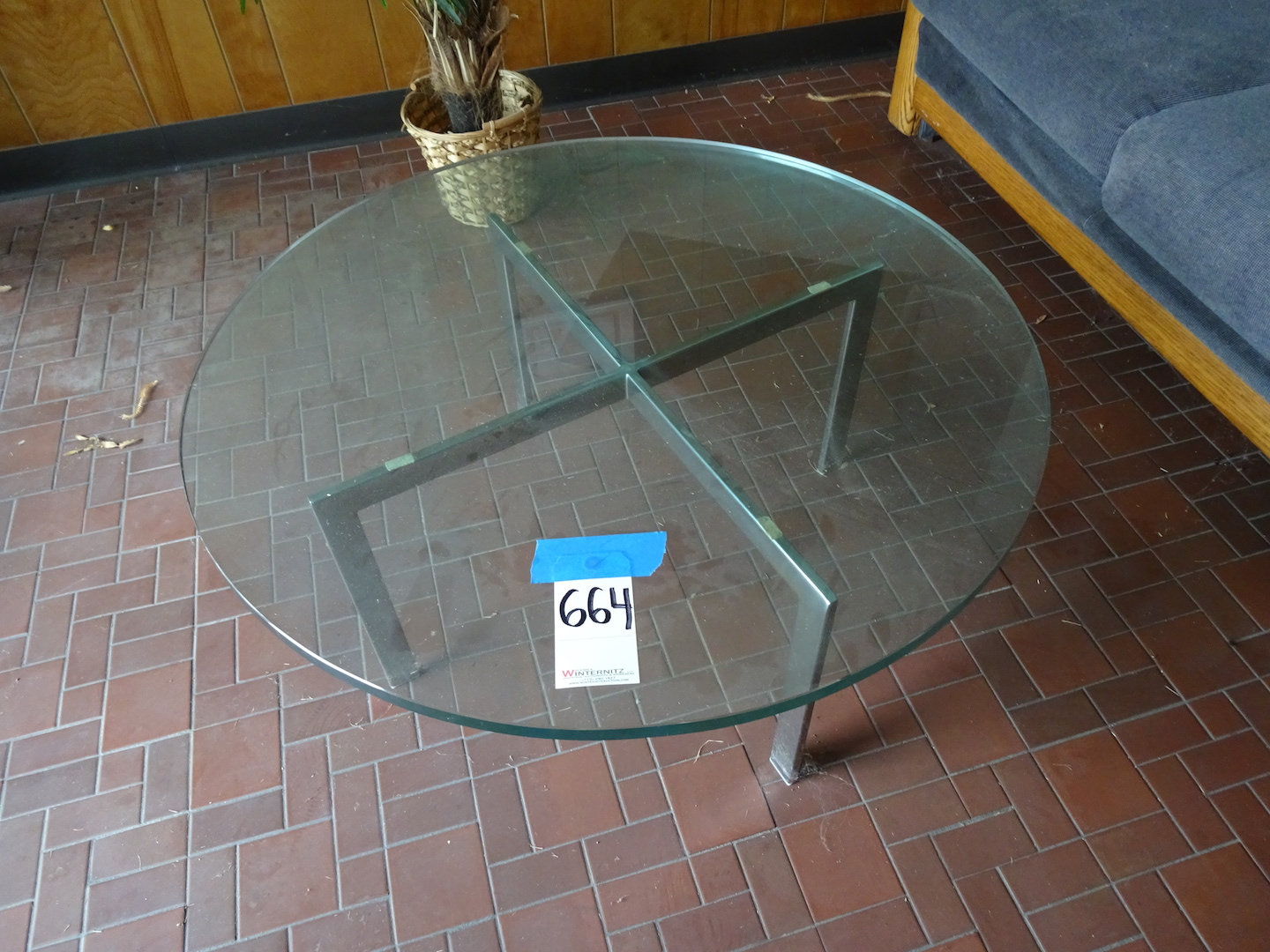 Lot 664 - LOT: Couch, Glass Coffee Table