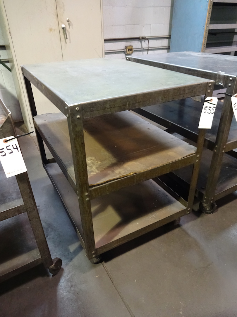 Lot 555 - Steel Shop Cart