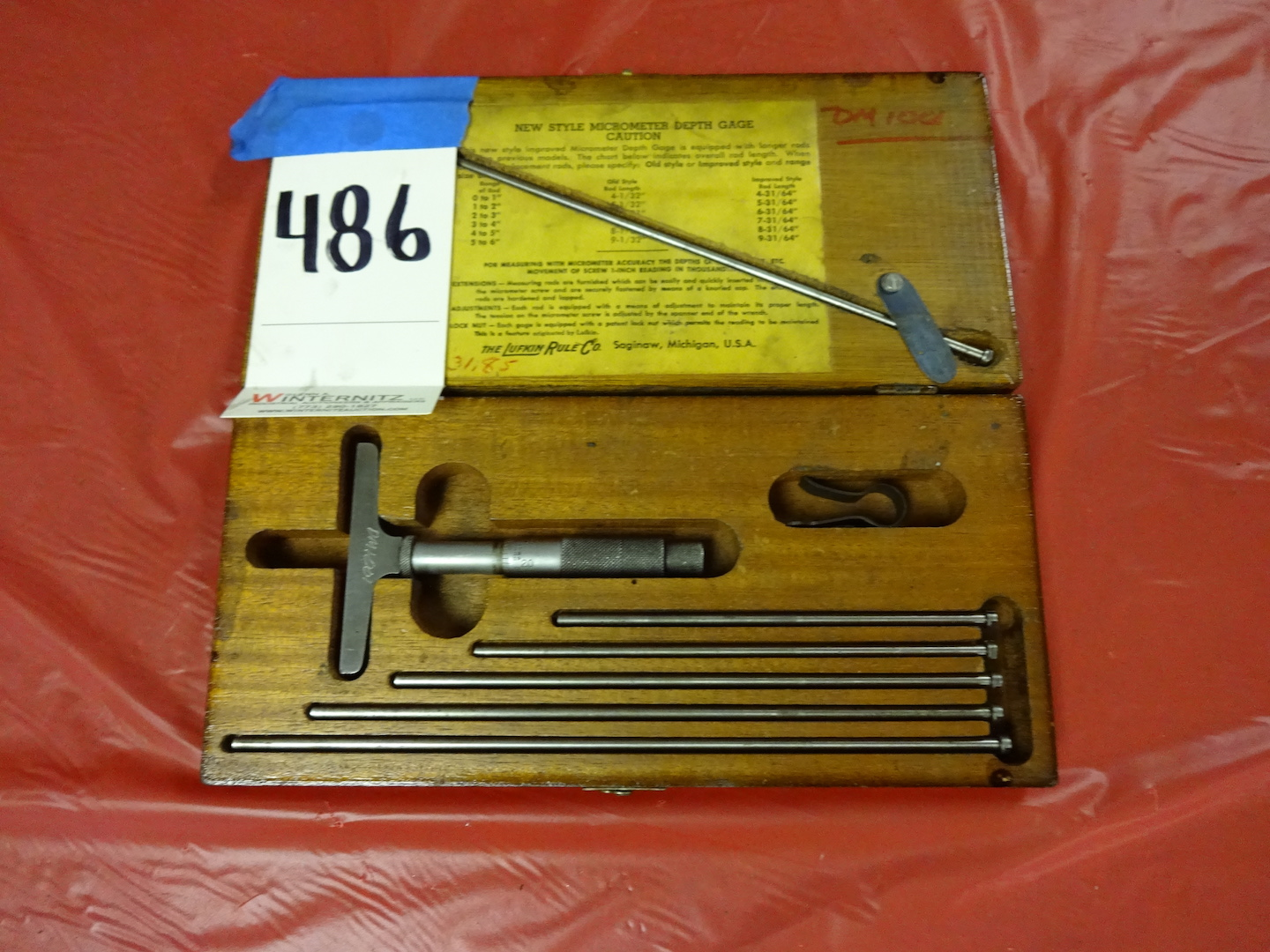 Lot 486 - Lufkin Depth Micrometer