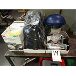 LOT: Assorted Safety Glasses, Safety Shield, Gloves, etc.
