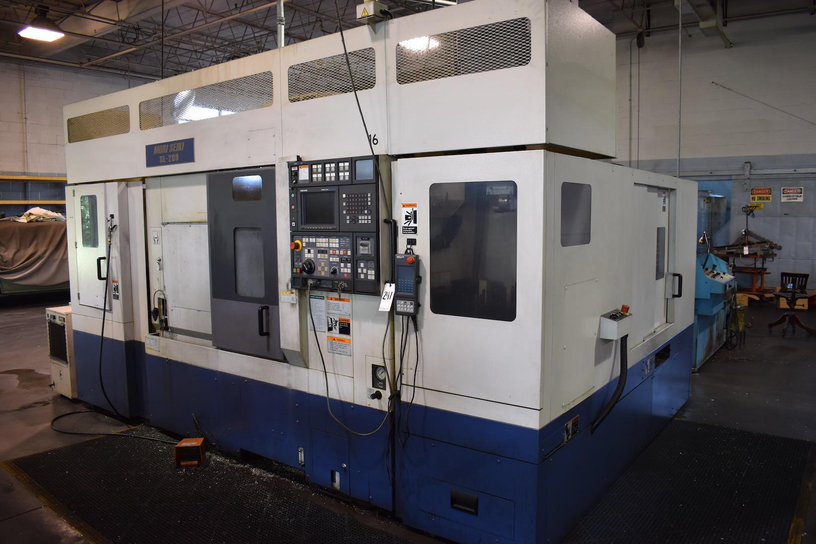 Lot 241 - Mori Seiki Model SL-200MC CNC Turning Center, S/N 1055 (1999), Mori Seiki Model MSC-501 CNC Control,