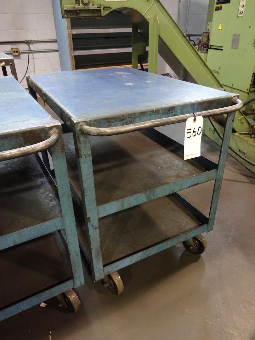Lot 560 - Steel Shop Cart