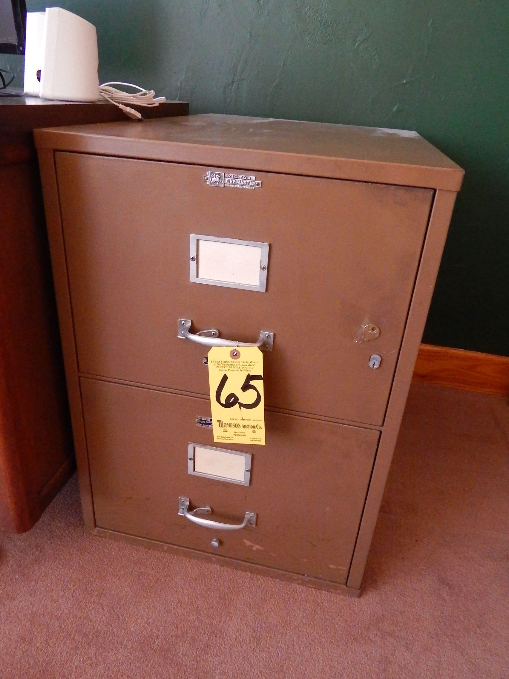 Victor Firemaster 2-Drawer Fireproof File, Legal Size