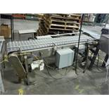 SS accumulation conveyor, 70 in. long x 14 in. wide, motor and drive ** Rigging Fee: $ 150** (Locate