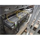 SS directional table top conveyor, 96 in. long x 17 in. wide x 24 in. tall, w/ washdown motor, SS fr