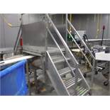 SS conveyor crossover, 3 step, 38 in. wide x 44 in. clearance ** Rigging Fee: $ 100** (Located in: M