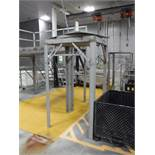 SS platform with turn table, 48 in. x 42 in. x 88 in. tall ** Rigging Fee: $ 150** (Located in: Mars