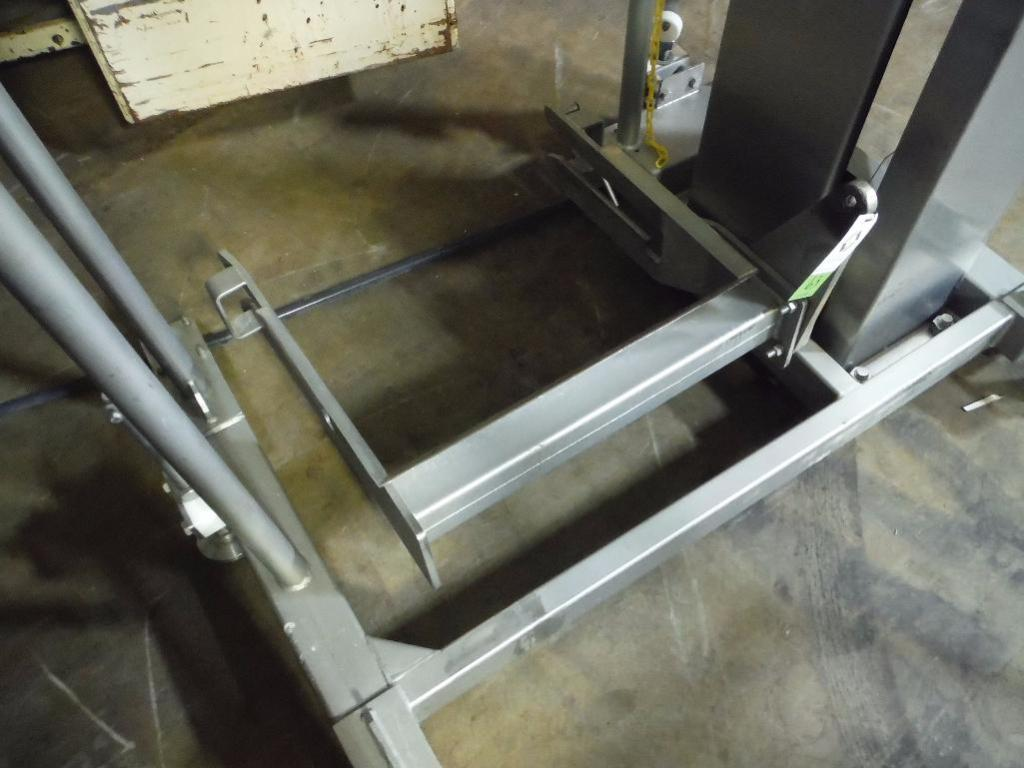 Lot 63 - MTC SS bowl lift, Model HLC-2, SN 622262, 113 in. lift, capacity 800 lbs. ** Rigging Fee: $ 200** (L