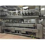 SS continuous roller toasting grill, 18 ft. long X 3 ft. wide, with two upper oil tanks, oil heater