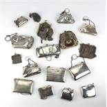 An interesting collection of varied decorative silver chain and other Ladies Purses,