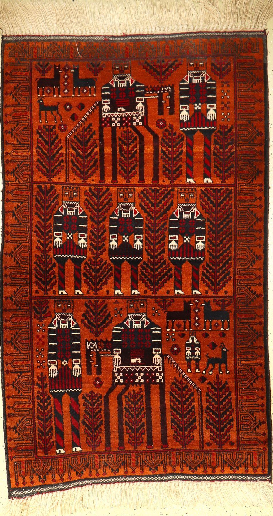 Belutsch alt, Afghanistan, um 1940, Wolle auf Wolle, ca. 156 x 92 cm, EHZ: 2