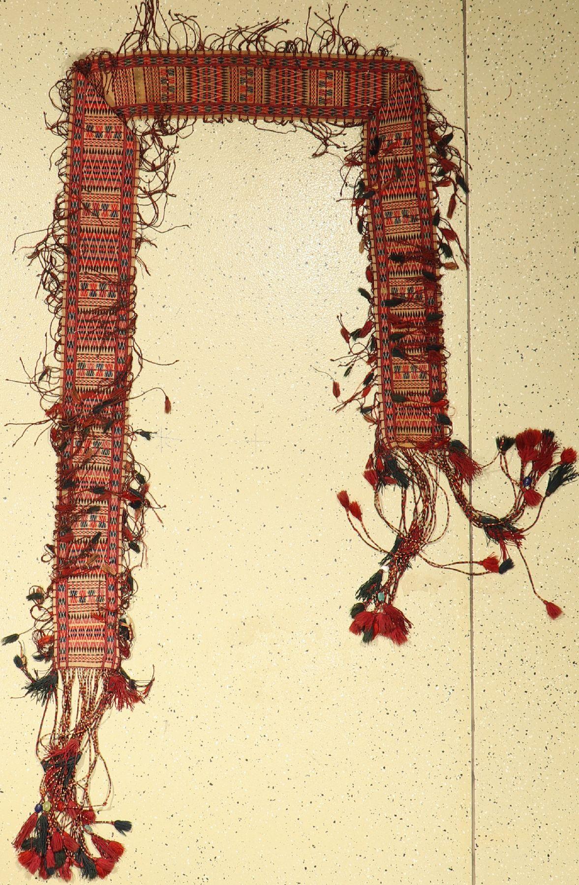 Turkmenisches Zeltband alt, Ersari, Amu-Darja, um 1930, Wolle auf Wolle, ca. 230 x16 cm,