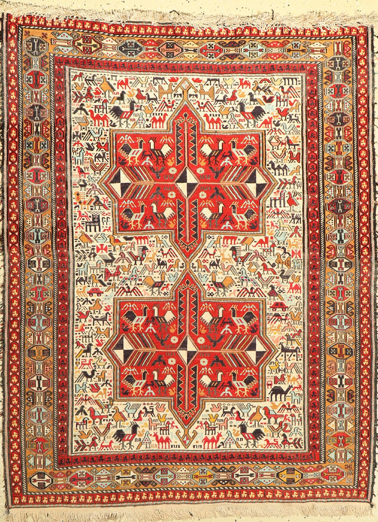 Azeri Sumakh, Azerbaijan, ca. 40 Jahre, Baumwolle, ca. 143 x 110 cm, EHZ: 2-3