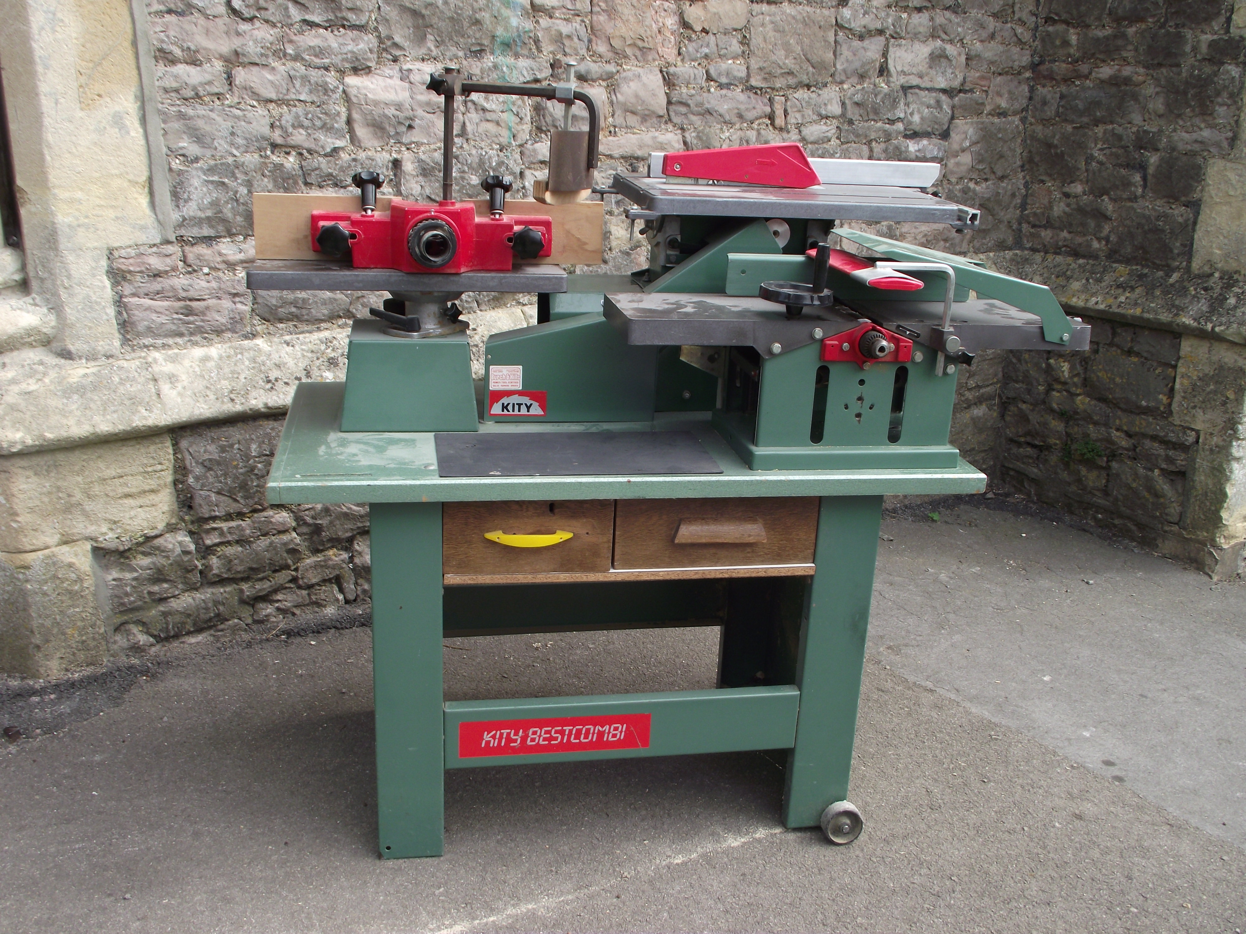 A contemporary workshop multi woodworking machine, Kity BestCombi, with spindle moulder, morticer