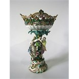 A good quality and substantial 19th century continental table centre piece, probably Meissen, in the
