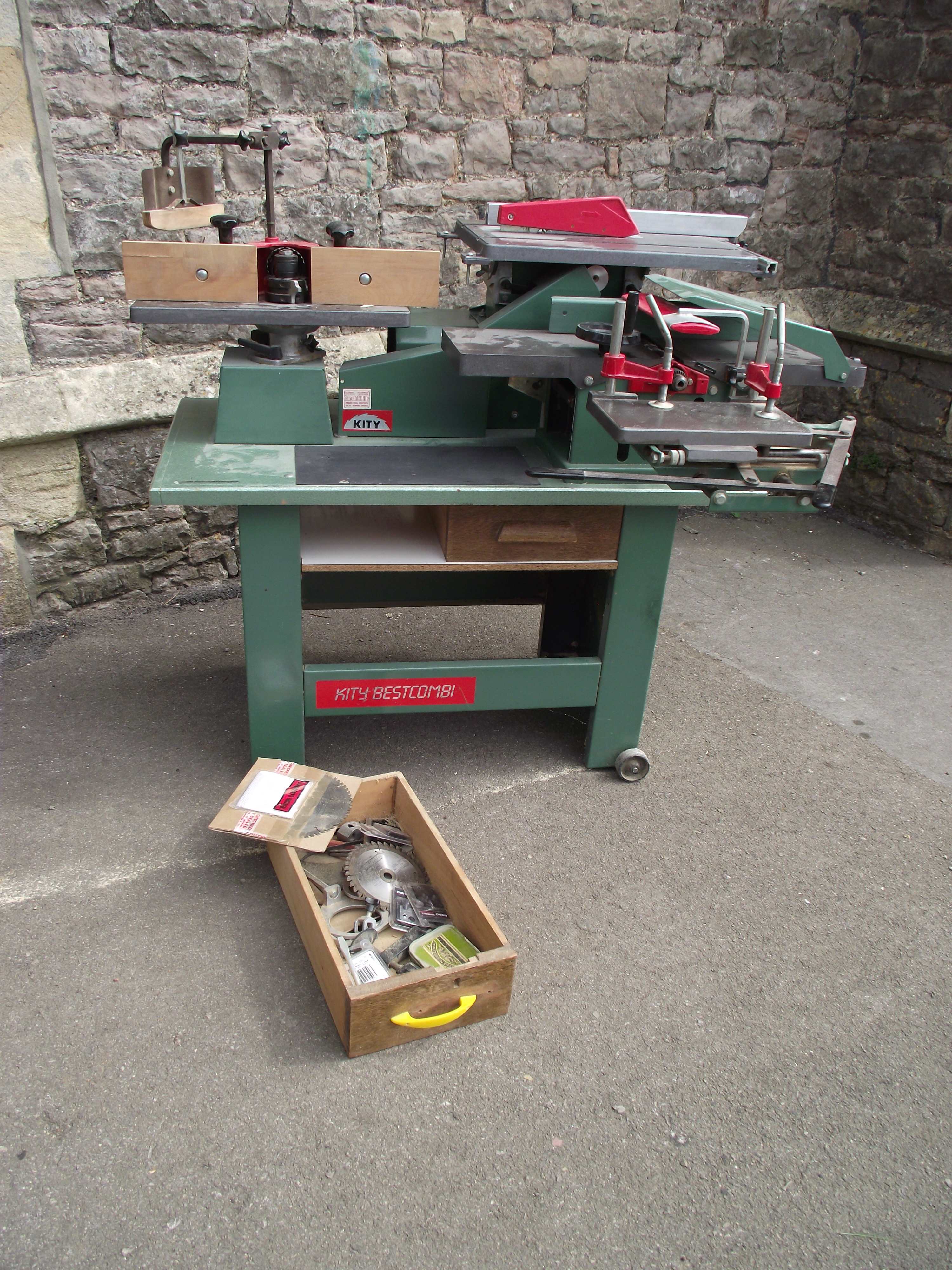 A contemporary workshop multi woodworking machine, Kity BestCombi, with spindle moulder, morticer - Image 4 of 5