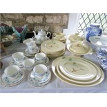A collection of Royal Doulton The Coppice dinnerwares pattern number 5803 comprising: three oval