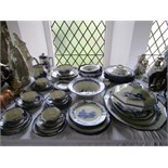 A quantity of Royal Doulton blue and white printed Norfolk pattern dinner and tea wares, pattern