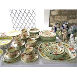 A quantity of Masons bible pattern dinner and tea wares number C2639 comprising: an oval meat plate,