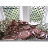An extensive collection of Palissy dinner and coffee wares from the Thames river scene series with