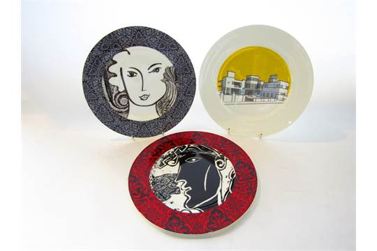 Previous  sc 1 st  The Saleroom & A pair of Timney Fowler decorative plates decorated with stylised ...