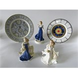Three Royal Worcester figures produced to commemorate the 2000 millennium, Only For You, New Dawn