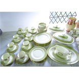 A collection of Royal Doulton Sonnet pattern dinner and tea wares H5012, comprising: a pair of