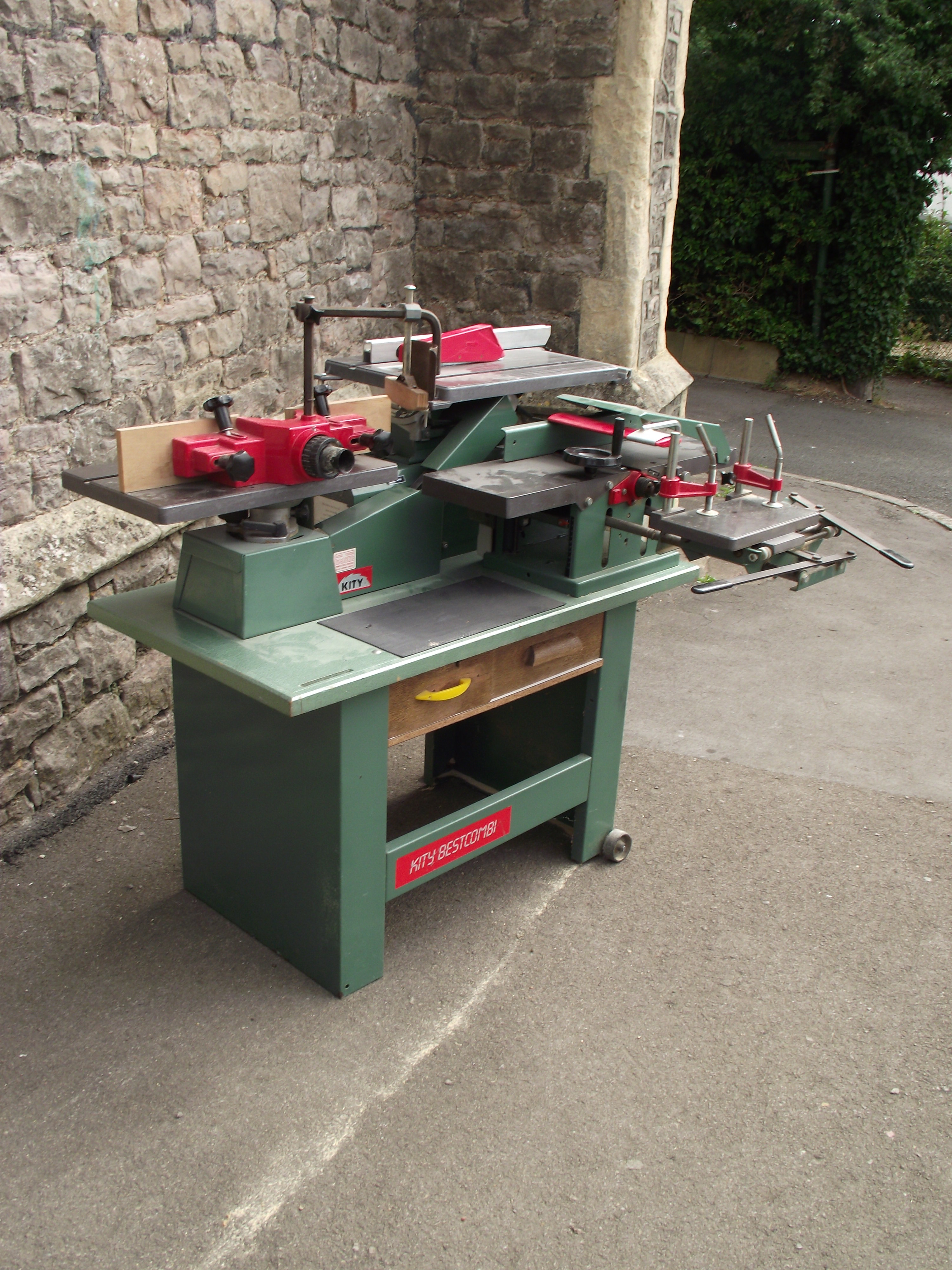 A contemporary workshop multi woodworking machine, Kity BestCombi, with spindle moulder, morticer - Image 2 of 5