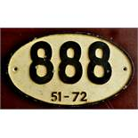 Wagon Plate-Royal label Factory-Wagon Plate 888-51-72, modern(My be Reproduction)