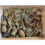 Artifacts, Coins etc- From the estate of a long term metal detectorist (1,000's) Buckles, bells,