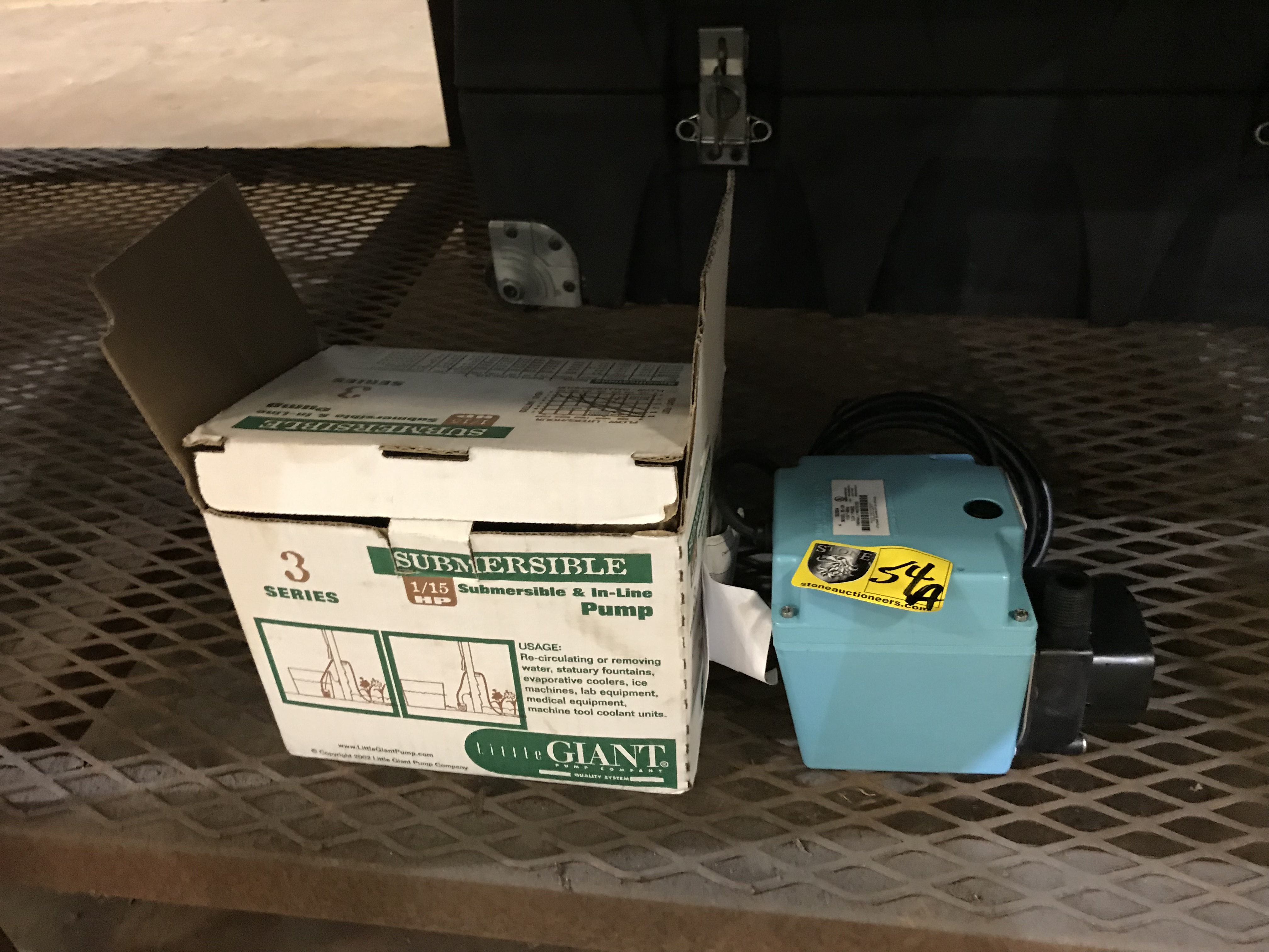Lot 54A - Little Giant Submersible Pump. 1/15 HP