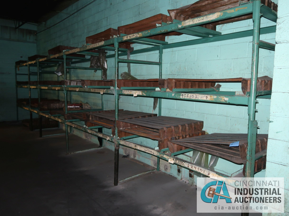 (LOT) TUBULAR FRAME RACK IN (2) ROOMS, APPROX. (17) SECTIONS WITH METAL SKIDS - Image 3 of 4