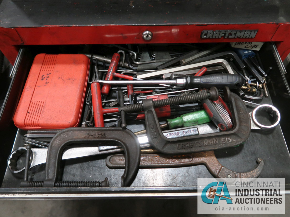 2 PC. PORTABLE CRAFTSMAN TOOL BOX WITH TOOLS - Image 3 of 4