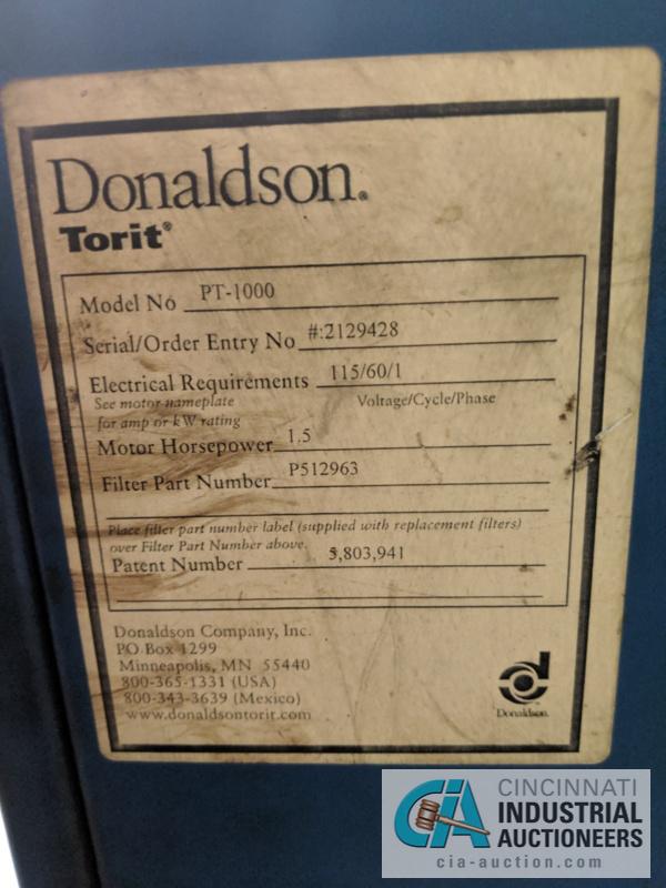 TORIT DONALDSON MODEL PT-1000 FUME COLLECTOR; S/N 2129428 - Image 3 of 3