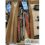 (LOT) PIPE WRENCHES