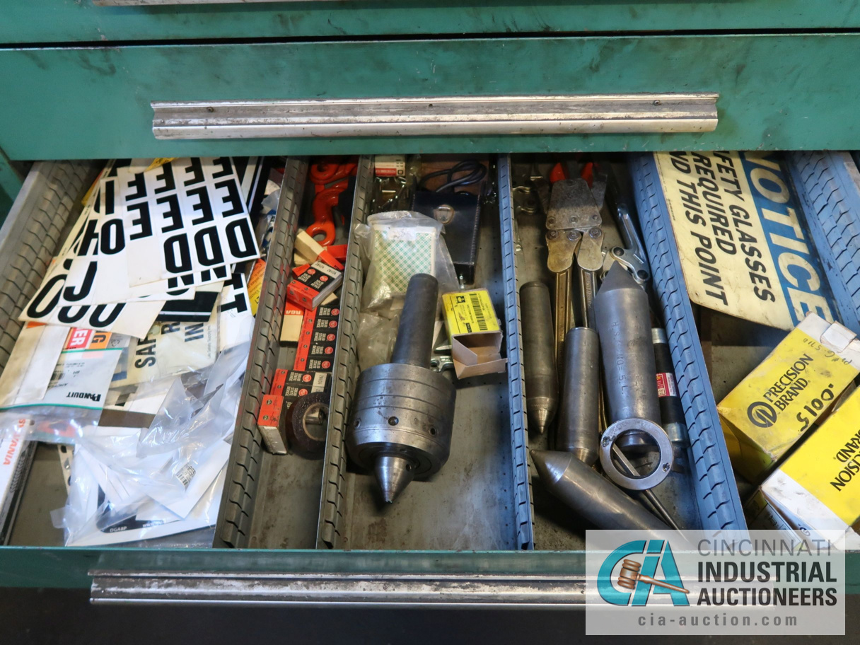 (LOT) CONTENTS OF MAINTENANCE ROOM, (10) CABINETS & SHELVES WITH BUILDING & MACHINE MAINTENANCE - Image 9 of 11